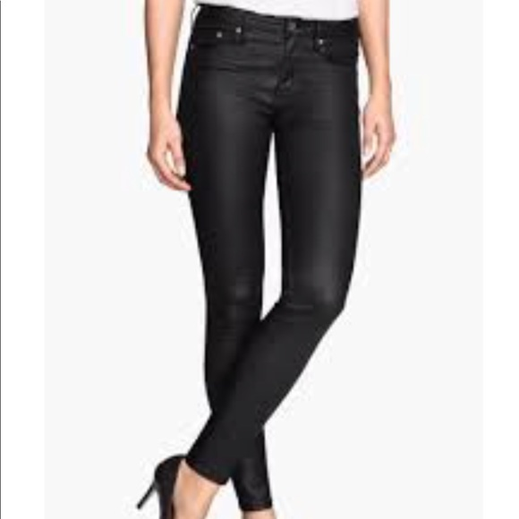 classic shoes new arrivals cheap price H&M | Women's faux leather black skinny pants